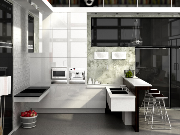 15 Appealing White Kitchen Designs | Home Design Lover