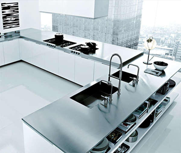 Highrise Contemporay Kitchen