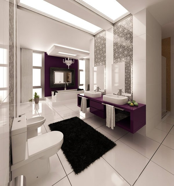 Purplish Bathroom Design