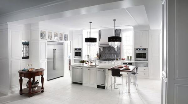 Model Home White Kitchen 15 appealing white kitchen designs | home design lover
