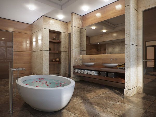 16 refreshing bathroom designs home design lover for Different bathroom ideas