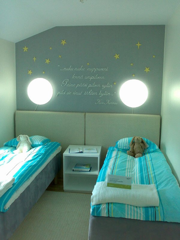 20 vibrant and lively kids bedroom designs home design lover for Childrens bedroom wall designs