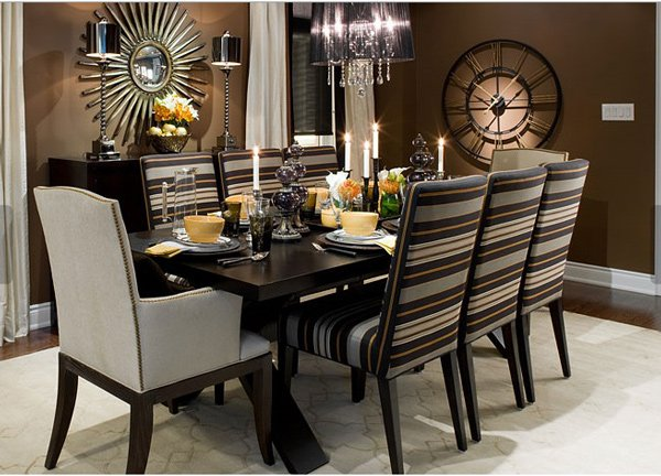 15 adorable contemporary dining room designs home design for Dinner room design