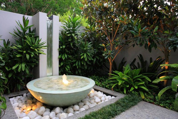 How to build a pondless water feature pictures to pin on pinterest - Landscape Designs For Creative And Sophisticated Garden