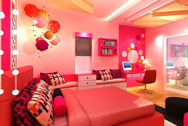 Pretty Girls' Bedroom Design