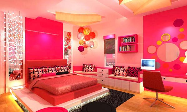 Home design pretty girls rooms for Pink bedroom designs for teenage girls