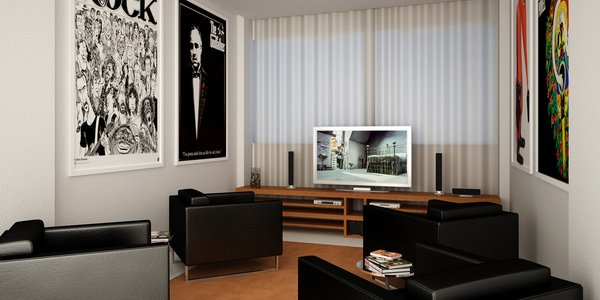 Have wall decors  How to Set-Up a Fun Filled Entertainment Room 10 wall decor