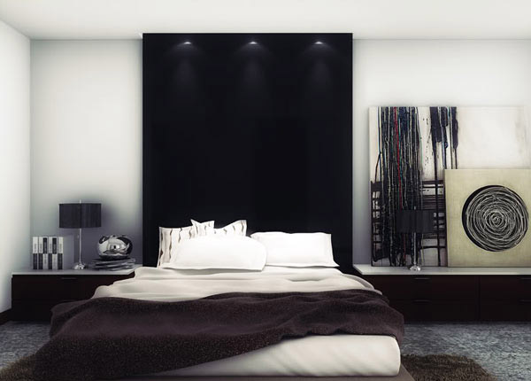 15 cool boys bedroom designs collection home design lover for Chambre noir et blanc