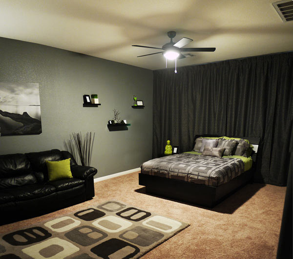 15 cool boys bedroom designs collection home design lover - Small apartment ideas for guys ...