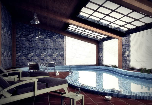 Luxurious Indoor Pool Design