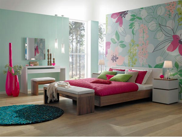 Pretty Floral Girl's Bedroom Design