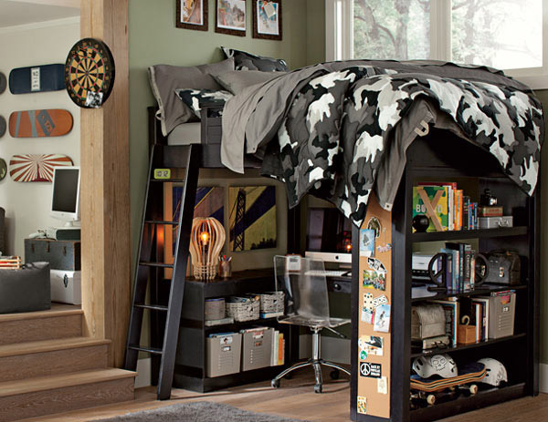 15 cool boys bedroom designs collection home design lover for Camouflage bedroom ideas for kids
