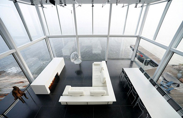 Glass House Interior Sofa Furniture