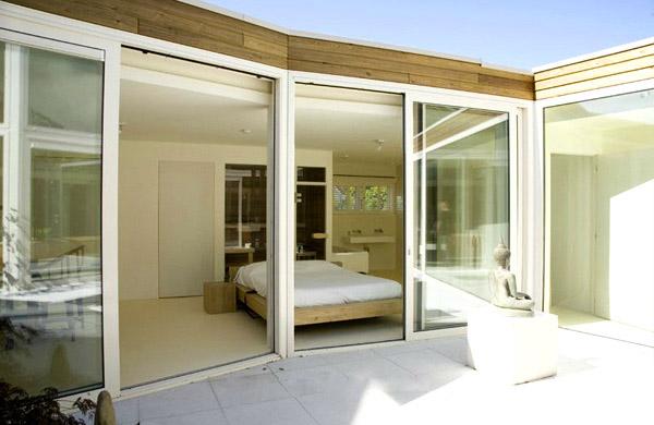 Glass Wall Bedroom