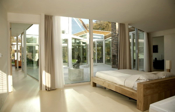 Transparent Villa Contemporary White Bedroom