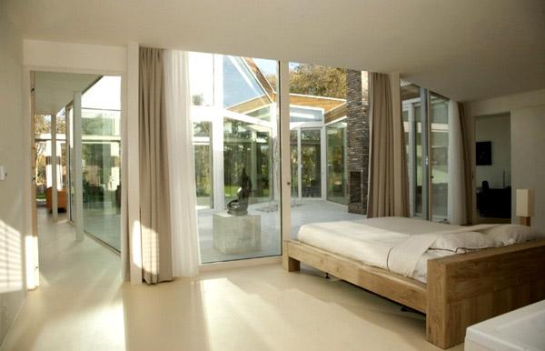 Transparent Villa Contemporary White Bedroom