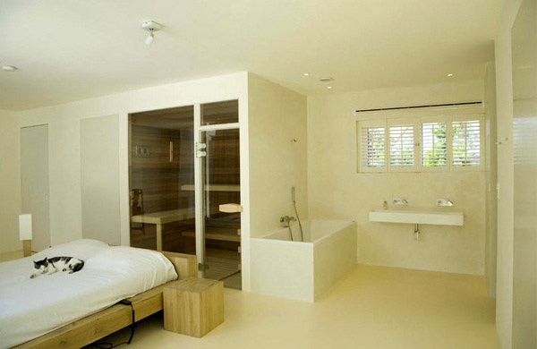 Transparent Villa Bedroom Ensuite Steam Room