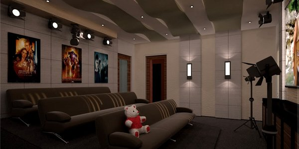 Use sound absorbing materials  How to Set-Up a Fun Filled Entertainment Room 9 absorbing area