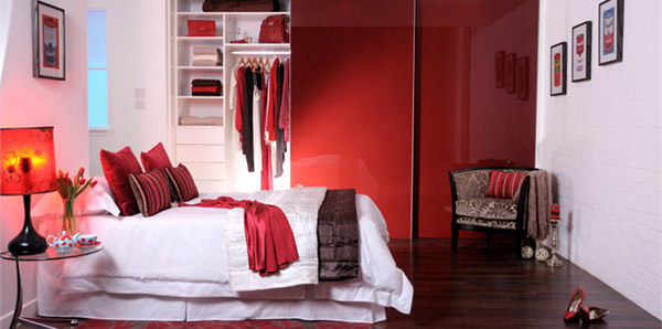 Red Glass Bed