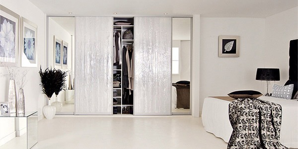 Silver Wood Mirror Bedroom