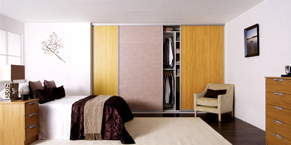 Oak Beige Glass Bedroom