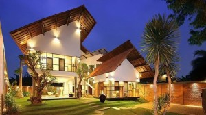 a tropical house in jakarta
