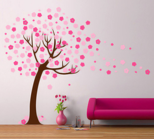 Brilliant Blowing Cherry Blossom Wall Decal 600 x 571 · 105 kB · jpeg