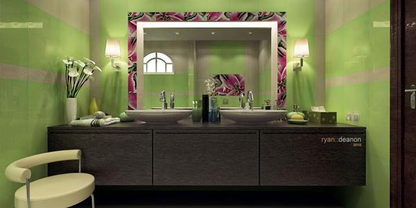 Place a stylish mirror