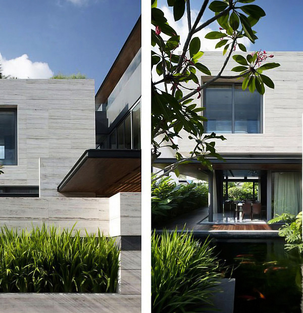 Contemporary Travertine Dream House In Serangoon