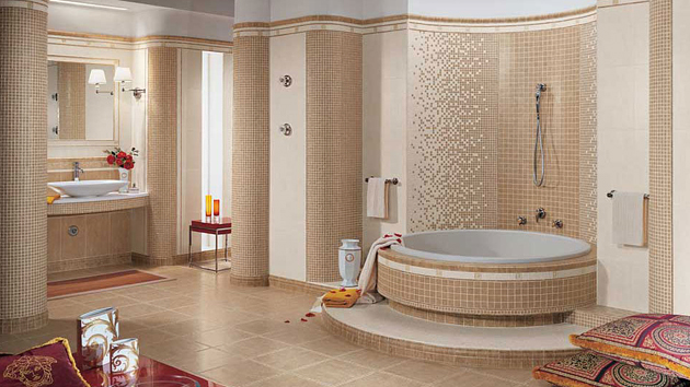 Elegant Vanity Sets and Bathrooms from Versace Home Tiles by Gardenia ...
