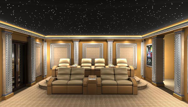 Futuristic Home Theater