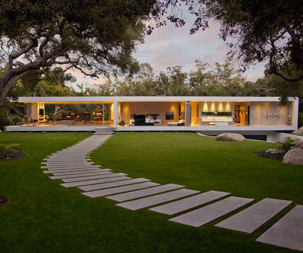The Awe Inspiring Glass Pavilion House In Santa Barbara