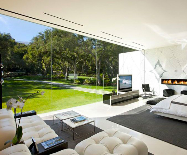 Glass Pavilion House Living Room