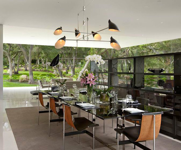 Glass Pavilion House Dining Room