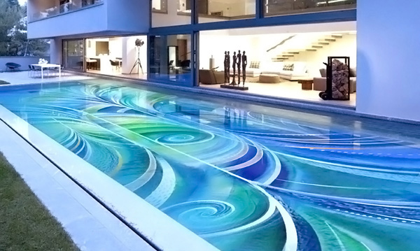 Amazingly beautiful pool mosaic ceramic tiles from craig for Pool design tiles