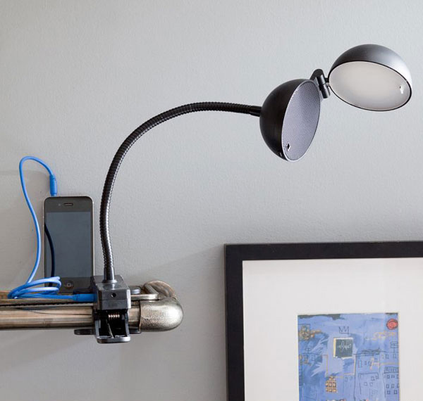 Speaker LED Clip Lamp