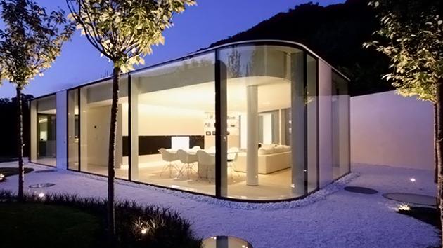 lake lugano house in switzerland