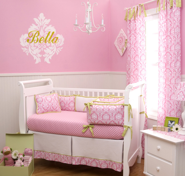 Candy Pink Damask Nursery