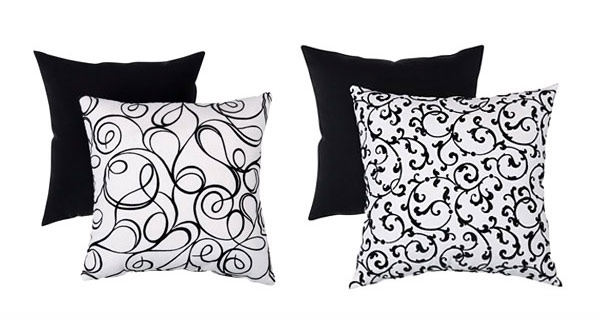 Modern Black And White Throws Pillow ...