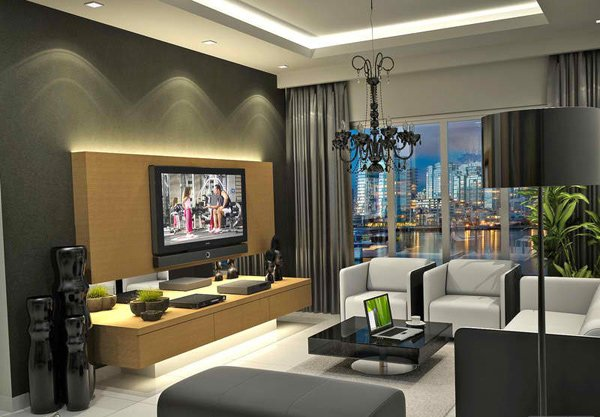 20 modern contemporary black and white living rooms home. Black Bedroom Furniture Sets. Home Design Ideas
