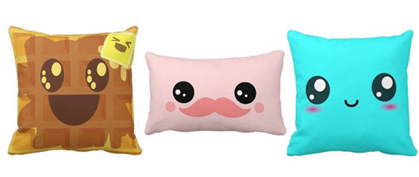 Kawaii Throw Pillows