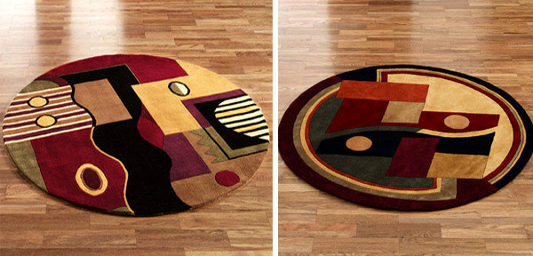 Kinetic and Network Round Rugs