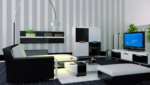 20 modern contemporary black and white living rooms home design lover - Decoration salon blanc ...