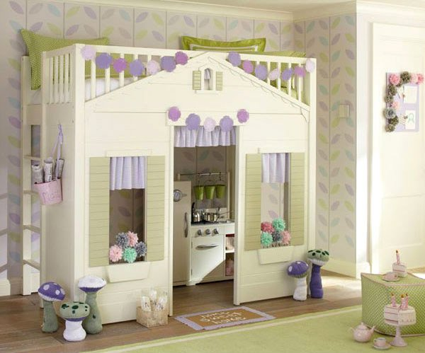 Like a real cottage, this bed would surely make your little lady happy ...