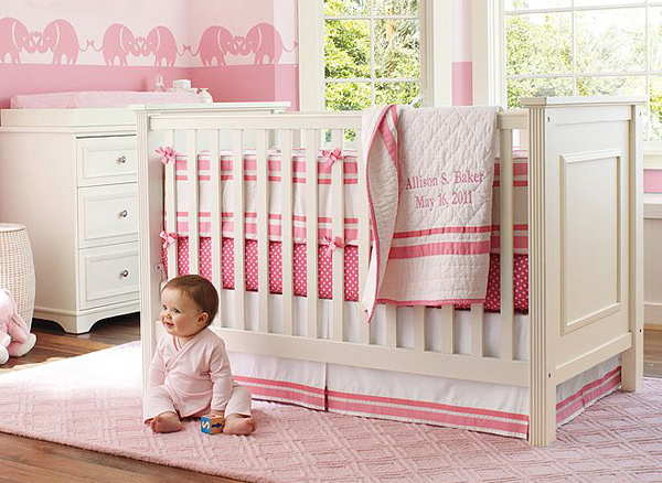 Pink Harper and Mini Dot Nursery