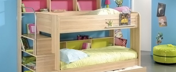 Kid's Bedroom Furniture: Space Saving Bunk Beds