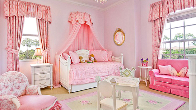 Home design pink baby room ideas for Baby girl room decoration