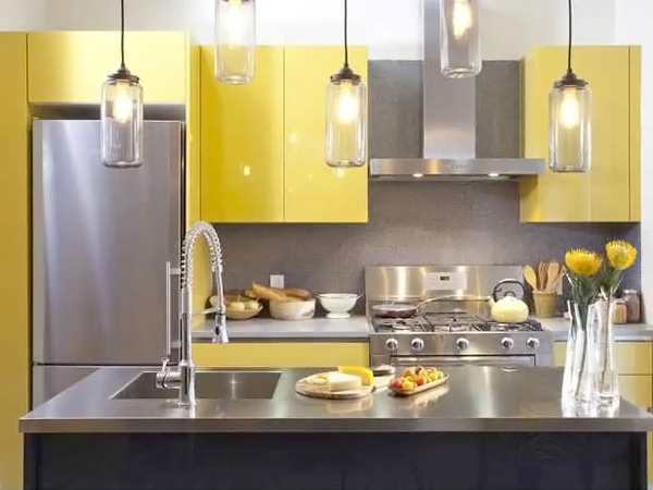 yellow modular kitchen ideas