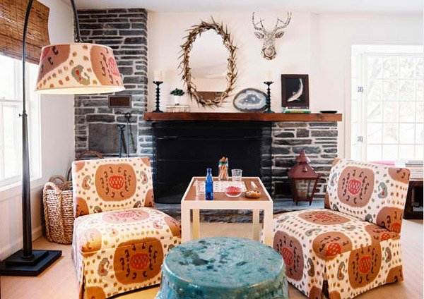 NY Eclectic Living Room