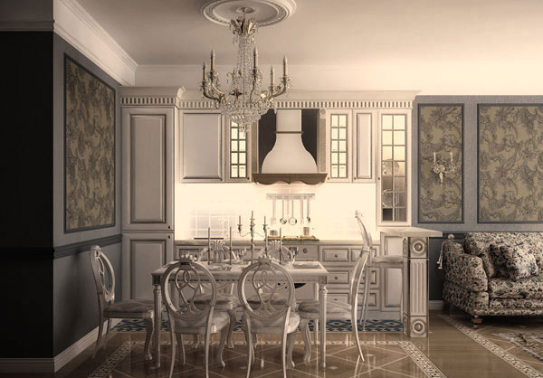 Apartment in Classic Style in Minsk